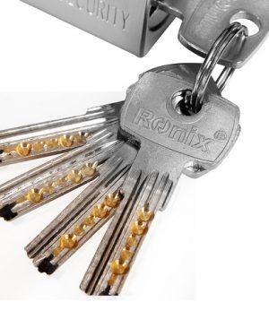 قفل کتابی فولادی با کلید برنجی - سایز 84 میلیمتر مدل RH-4290