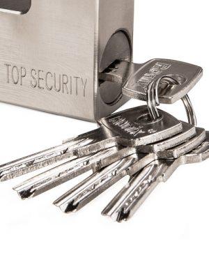 قفل کتابی فولادی با کلید آهنی - سایز 84 میلیمتر مدل RH-4291